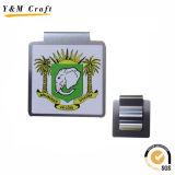 Costume magro Ym1200 do suporte do grampo do dinheiro do metal de prata da alta qualidade