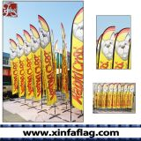 屋外広告の羽のフラグの旗の上陸海岸表示旗か立場のフラグ