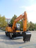 Escavadeira Hidráulica Roda fabricante profissional com a capacidade da caçamba