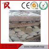 El camino de cerámica blanco de los ojos de gato del amarillo de la alta calidad de Roadsafe tachona la etiqueta de plástico del pavimento