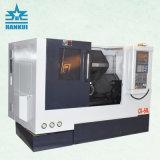 Tornio inclinato della base di CNC del metallo di alta efficienza Ck80