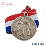 Médaille personnalisée en métal de lanière pour le sport