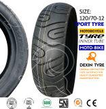 O sul da motocicleta do pneumático do esporte de América parte o pneu 120/70-12 da motocicleta do pneumático da motocicleta do velomotor