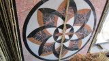 Telha de assoalho do mosaico, mosaico redondo da pedra do mármore do teste padrão