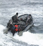 Aqualand 14feet 4.2m Military Inflatable Boat 또는 Rescue Boat/Hypalon Rubber Boat (AQL-425)