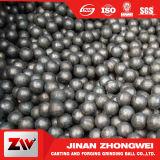 La bola de acero forjada forjó la bola de pulido de pulido de acero del bastidor de la bola