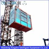 Gru materiale della singola gabbia per il passeggero ed il materiale di sollevamento della costruzione