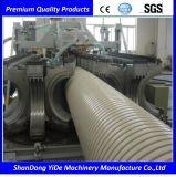 Линия машины штрангя-прессовани трубы из волнистого листового металла стены PE/PP/PVC двойная