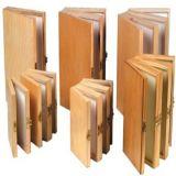 Madera de bambú del compartimento de la caja de Pesca con Mosca