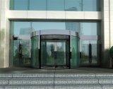 Королевские роскошные стеклянные вращающаяся дверь (3-wing) содержа установку поля