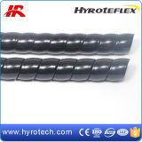 Proteção de mangueira espiral de cor preta para mangueira hidráulica