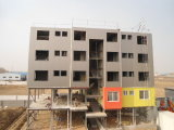 난간 벽을%s 가진 Prefabricated 가벼운 강철 구조물 작업장 건물
