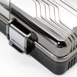 Lubinski ABS formte Plastikshell-grauen Zigarre-Arbeitsweg-Luftfeuchtigkeitsregler-Halter-Kasten (ES-EB-027)