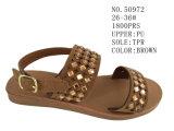 L'unité centrale de couleur de Brown badine des chaussures de santal