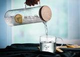 Питчер кувшина воды стеклянный с крышкой