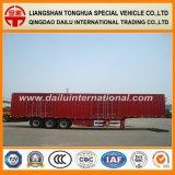 Gooseneck Van Type Truck de Oplegger van de Doos van het Vervoer van de Lading van de Aanhangwagen