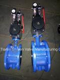 Accionamento pneumático Válvula Borboleta Tipo Wafer com marcação ISO aprovar