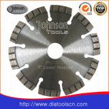 El diamante vio la hoja: 125 mm Hoja de sierra de diamante láser con segmentos Turbo