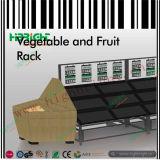 Mensola di visualizzazione promozionale della verdura e della frutta del supermercato