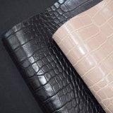 Cuoio sintetico dell'unità di elaborazione della pelle del coccodrillo, cuoio impresso strutturato del sacchetto