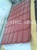 La feuille en acier de toiture de profil de PPGI/a ridé la feuille de fer de Glaized