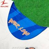 Basquetebol novo enfrentado dobro cheio Jersey do azul de céu do Sublimation das vendas quentes e o branco do estilo