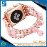 Braceletes da faixa de Eemstone da pérola das senhoras para Apple Iwatch