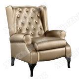 Sofá de cuero de la sala de estar de los muebles de la silla de descanso del durmiente perezoso de lujo