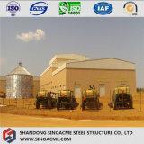 Stahlrahmen-Stall-Gebäude auf landwirtschaftlichem Bauernhof