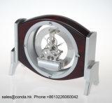 Movimento de esqueleto de quartzo de alta qualidade Relógio de mesa de madeira K3021