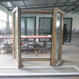 Ouverture de pivotement double revêtement aluminium français porte en bois massif