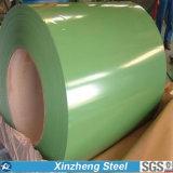 Color cubierto cubriendo la hoja PPGI PPGI prepintado bobina de acero para la hoja del material para techos
