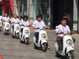 """2016 """"trotinette"""" elétrico da mobilidade do """"trotinette"""" novo da roda E do projeto dois"""