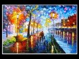 Paysage abstrait moderne Painitng d'huile sur toile (LA1-073)