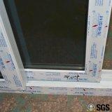 格子白いカラーUPVCプロフィールの引き戸、ドア、Windows K02084が付いている良質の倍ガラス