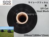 Película preta fundida poço do envoltório da ensilagem da cor para o envoltório da ensilagem do Hokkaido
