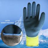 Le polyester et l'interpréteur de commandes interactif avec impériale acrylique, le premier latex fragile ont entièrement enduit, latex de Sandy à couche double, gants de l'hiver, gants chauds, gants balayés de boucles de Terry