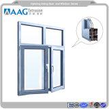 Anodizzazione calda della finestra dell'oscillazione di disegno UPVC della griglia di vendite e profilo di alluminio della polvere per i progetti sociali