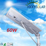 Réverbère solaire Integrated de l'homologation 12V 60W DEL DEL de RoHS de la CE