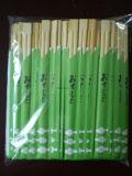 Madera palillos de bambú con el logotipo del cliente