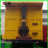 Trator de cilindro hidráulico Trator basculante em forma de U, Semi-reboque basculante