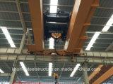 Кран европейского прогона двойника мостового крана надземный с электрической лебедкой
