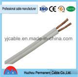 Le jumeau parallèle creuse le câble de haut-parleur de prix usine de jupe de PVC
