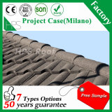 Tuile de toit en aluminium colorée de tuile de pierre de matériau de toiture de matériau de construction