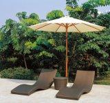 Salotti di vimini esterni del Brown del salotto di Sun per la spiaggia Tg-Jw3031 del giardino del raggruppamento