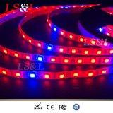 IP65/IP67 LED tiras flexível à prova de luz de produção vegetal com marcação & RoHS