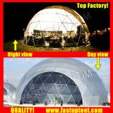 Удалите прозрачный белый ПВХ огромные геодезических купол Fastup