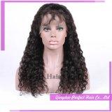 Malaysian 브라질 꼬부라진 Remy 사람의 모발 절반 가발