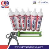 El uso de vidrio y aluminio adhesivo sellador de silicona estructural