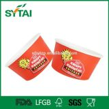 Compartimiento frito material del papel del tipo del tazón de fuente y del pollo del papel